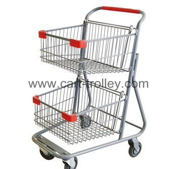shopping cart with double basket